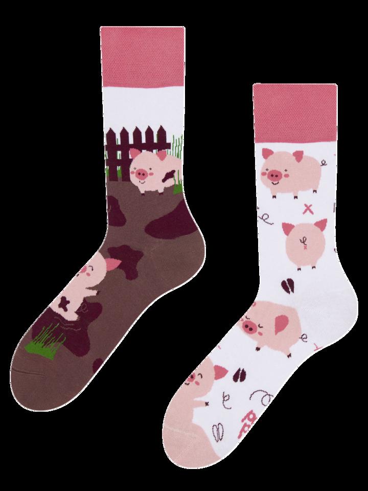 Pre dokonalý a originálny outfit Vrolijke sokken - Vrolijke varkentjes