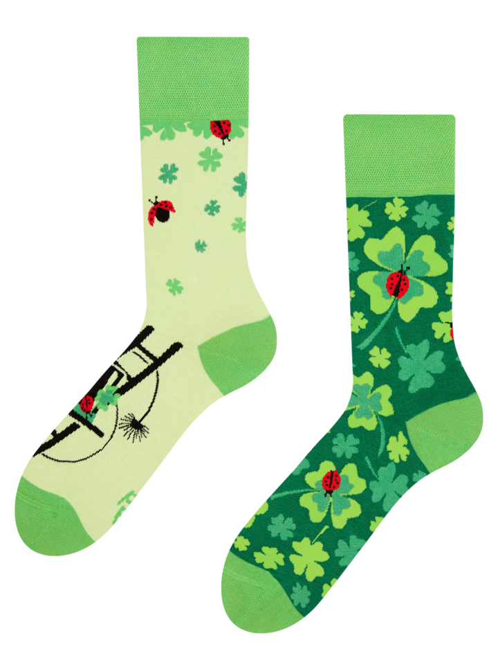 Looking for an original and unusual gift? The gifted person will surely surprise with Regular Socks Four Leaf Clover for Luck