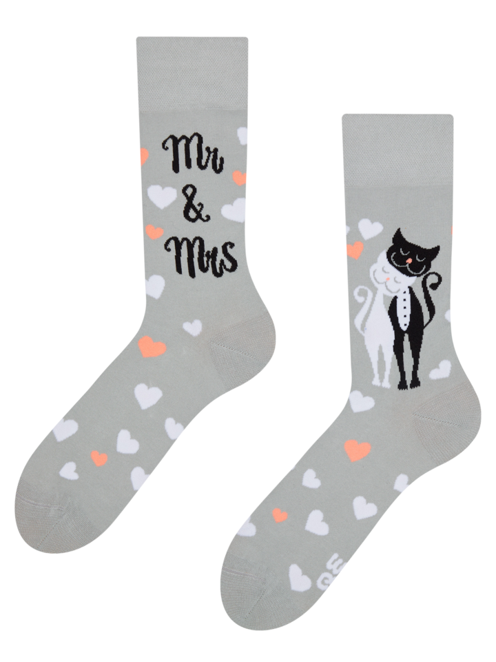Sale Regular Socks Wedding Cats