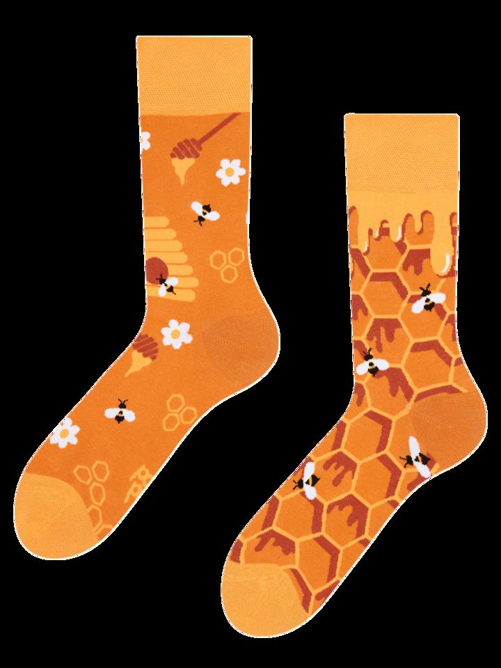 Geschenktipp Lustige Socken Honigwabe