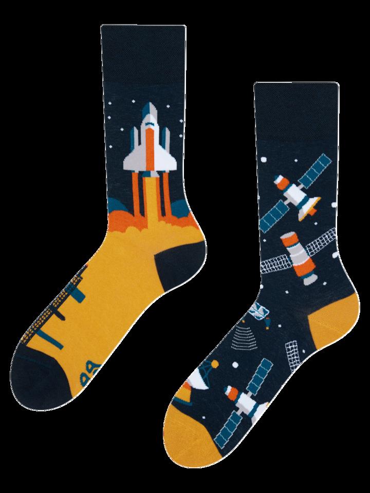 Ausverkauf Lustige Socken Kosmische Rakete