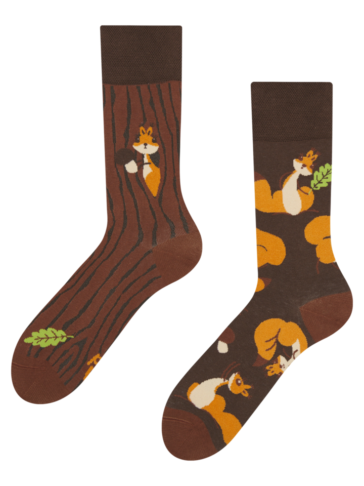 Looking for an original and unusual gift? The gifted person will surely surprise with Regular Socks Squirrels
