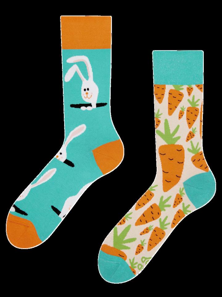 ZNIŻKA Veselé ponožky Mrkva a zajac