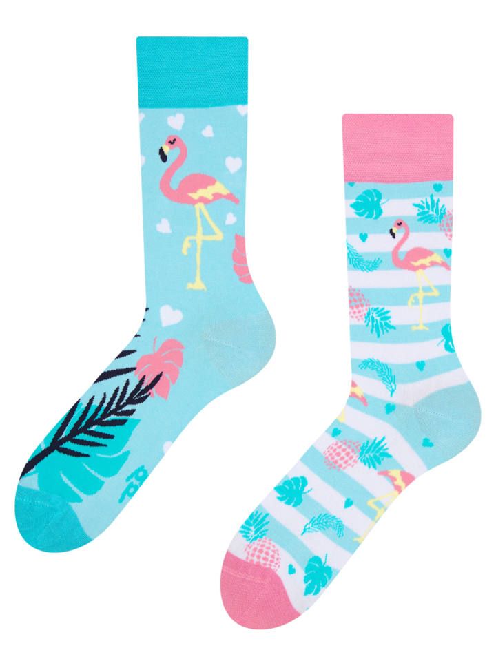 Sale Regular Socks Love Flamingos