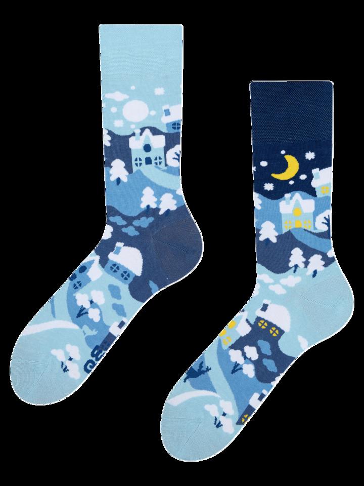 Pre dokonalý a originálny outfit Živahne nogavice Zimska dežela
