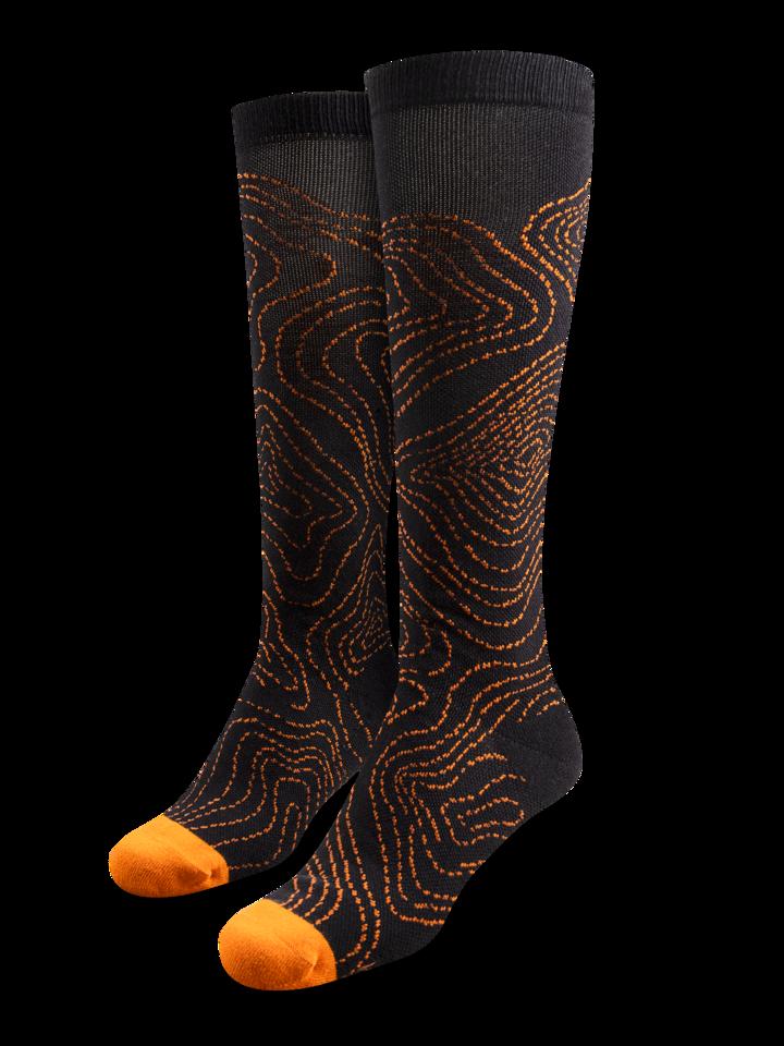 Pre dokonalý a originálny outfit Vrolijke running compressiesokken Contour lines