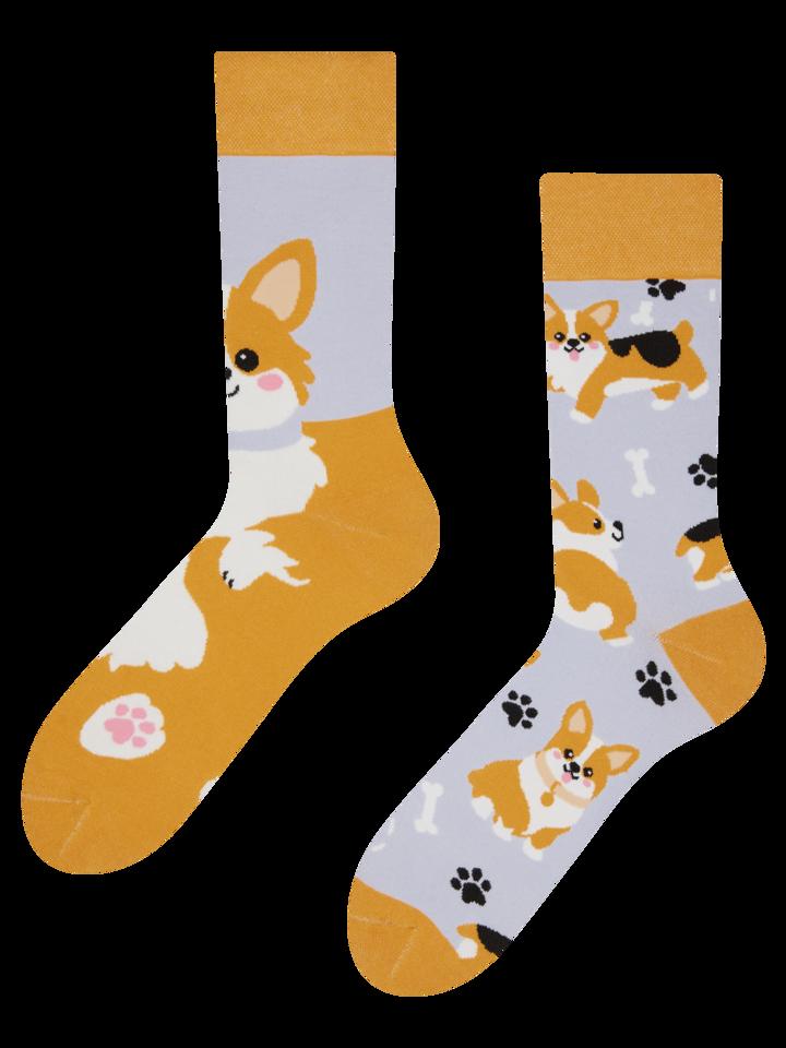 Hledáte originální a neobvyklý dárek? Obdarovaného zaručeně překvapí Veselé ponožky Pes Corgi