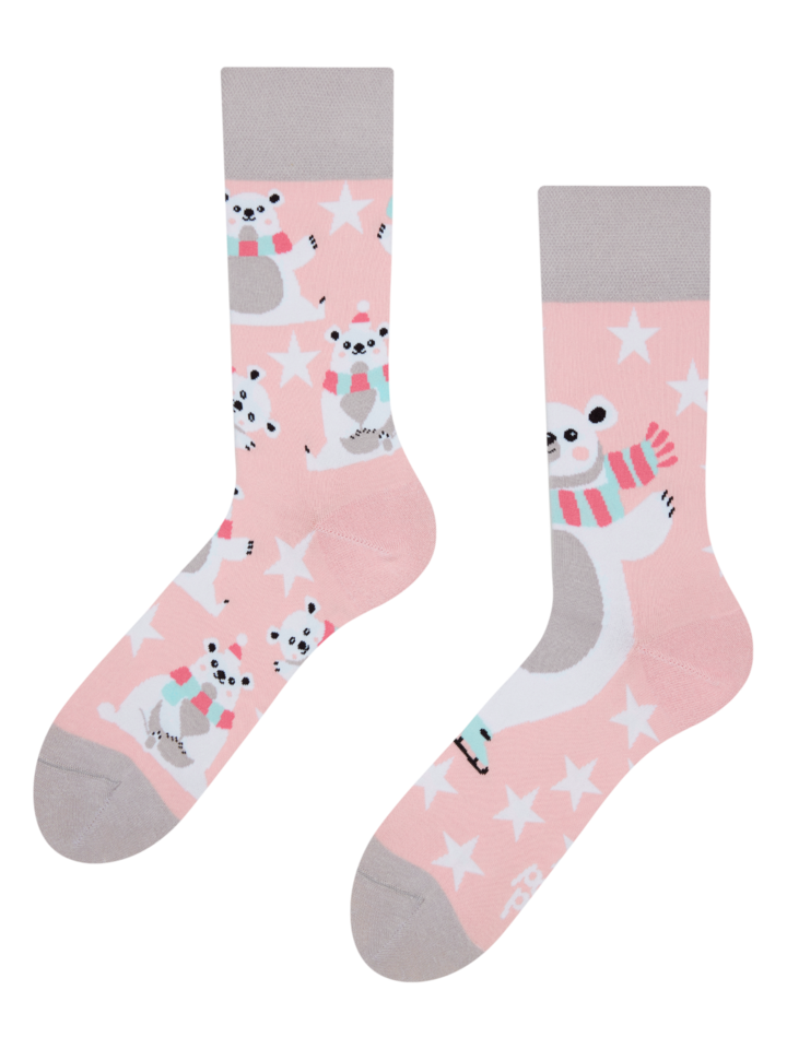 Looking for an original and unusual gift? The gifted person will surely surprise with Regular Socks Skating Polar Bear
