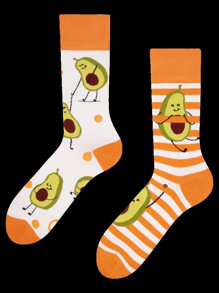 Pre dokonalý a originálny outfit Весели чорапи Забавно авокадо