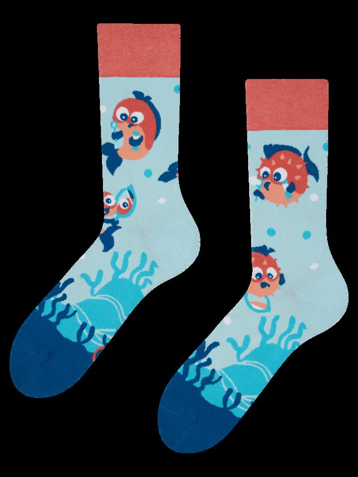 Lifestyle foto Veselé ponožky Vtipný čtverzubec