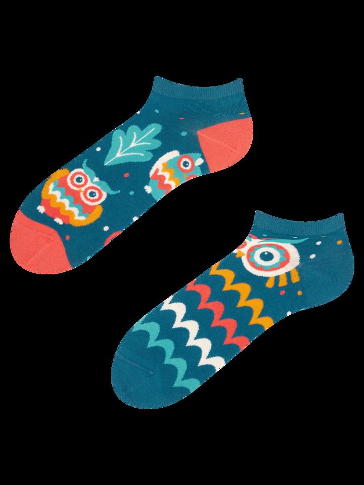 Pre dokonalý a originálny outfit Členkové veselé ponožky Múdra sova