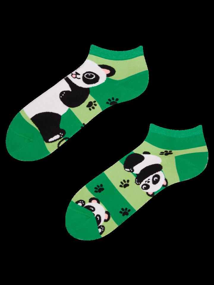 Výpredaj Živahne kratke nogavice Panda in črte