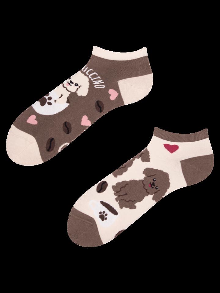 Výjimečný dárek od Dedoles Veselé kotníkové ponožky Puppucino