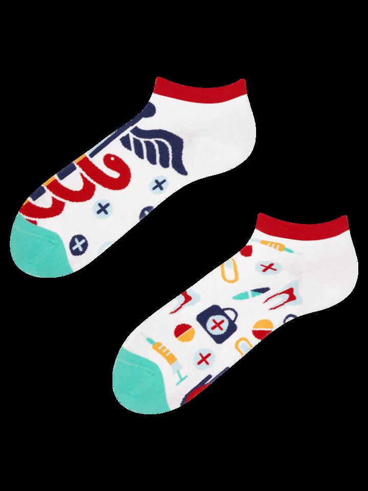 Lifestyle foto Veselé kotníkové ponožky Zdraví
