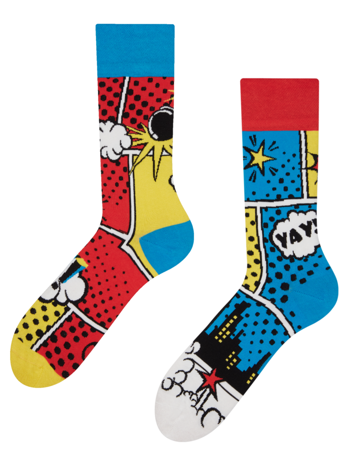 Lifestyle photo Regular Socks Colourful Comics