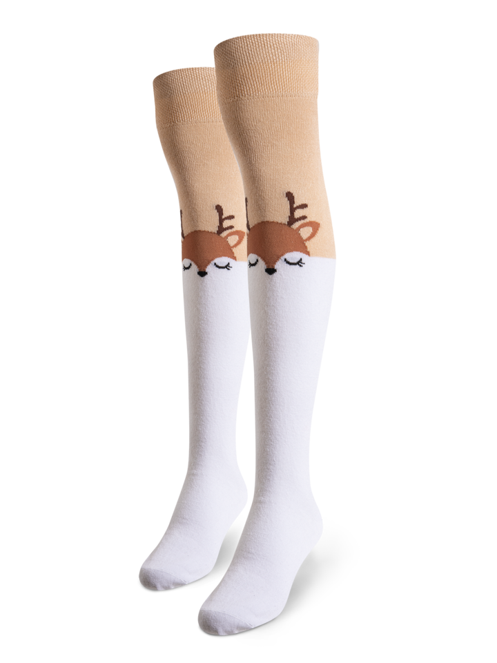Pre dokonalý a originálny outfit Over the Knee Socks Deer