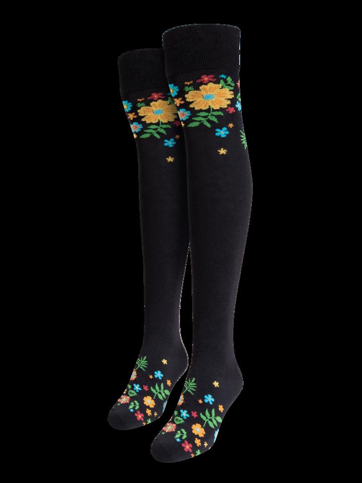 Gift idea Over the Knee Socks Flowers