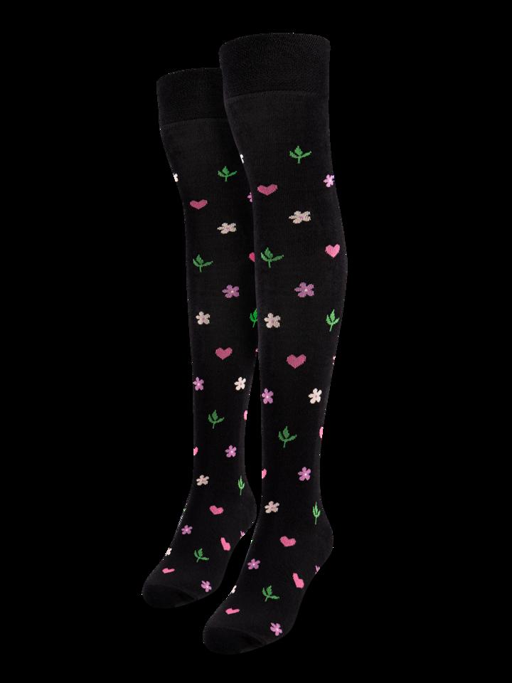 Potešte sa týmto kúskom Dedoles Calcetines alegres por encima de la rodilla Flores y corazones