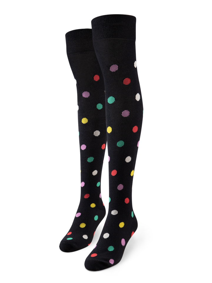 Lifestyle photo Over the Knee Socks Dots All Over