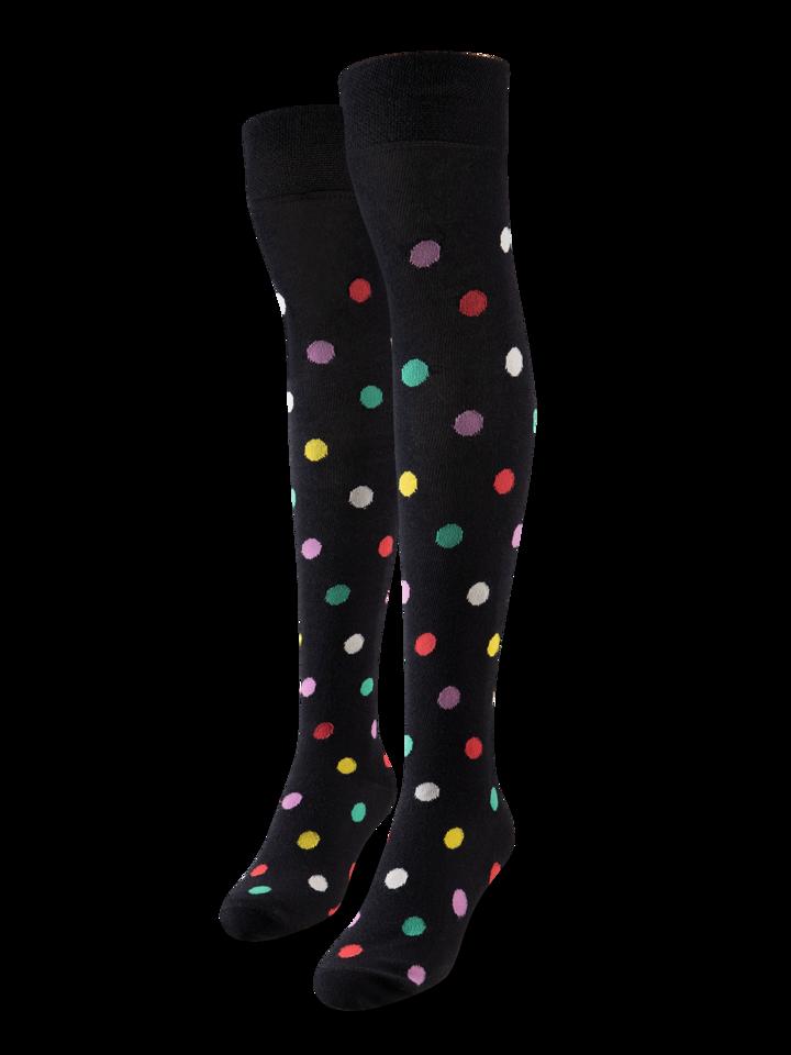 Lifestyle foto Весели чорапи над коляното Точки