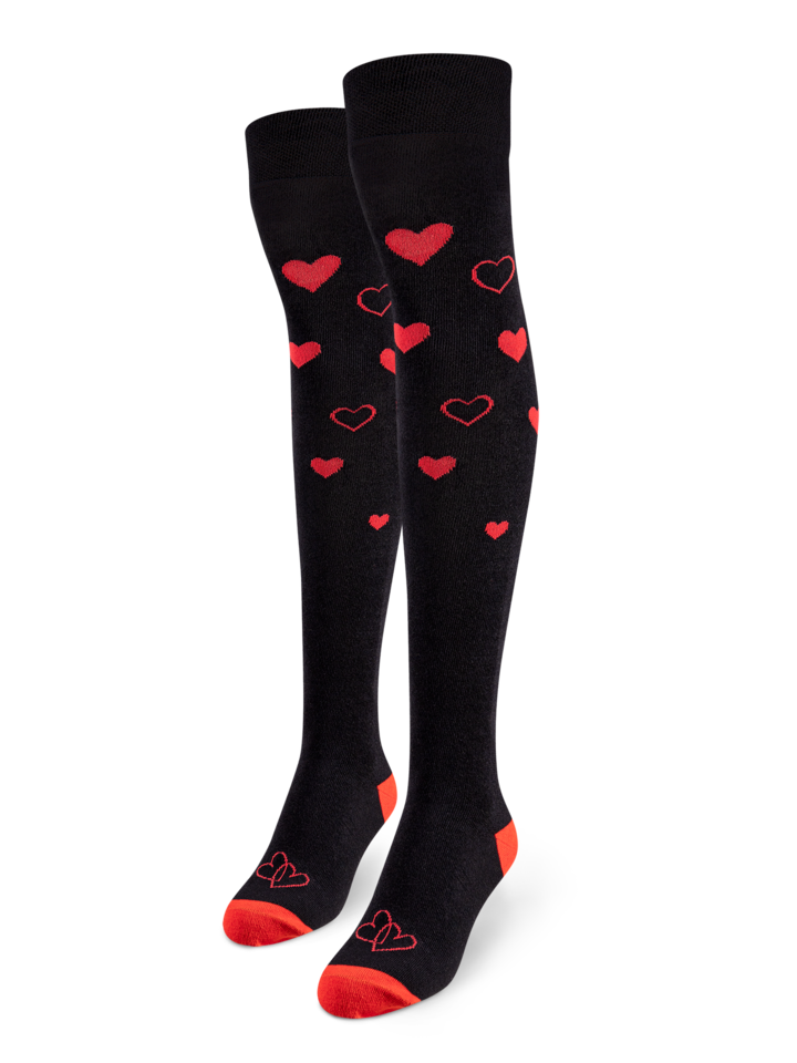 Sale Over the Knee Socks Love Hearts
