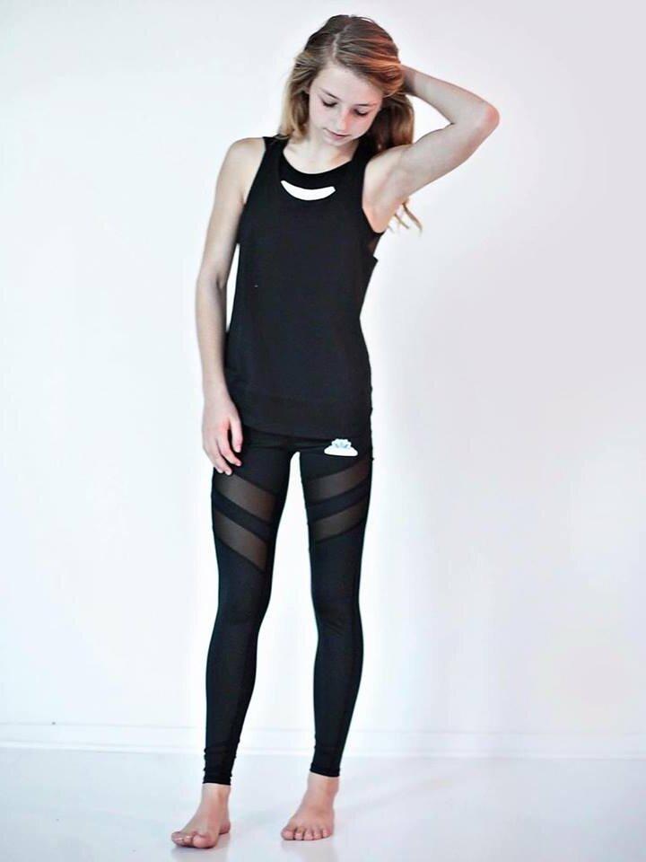 Zľava Ženske mrežaste športne pajkice - črne