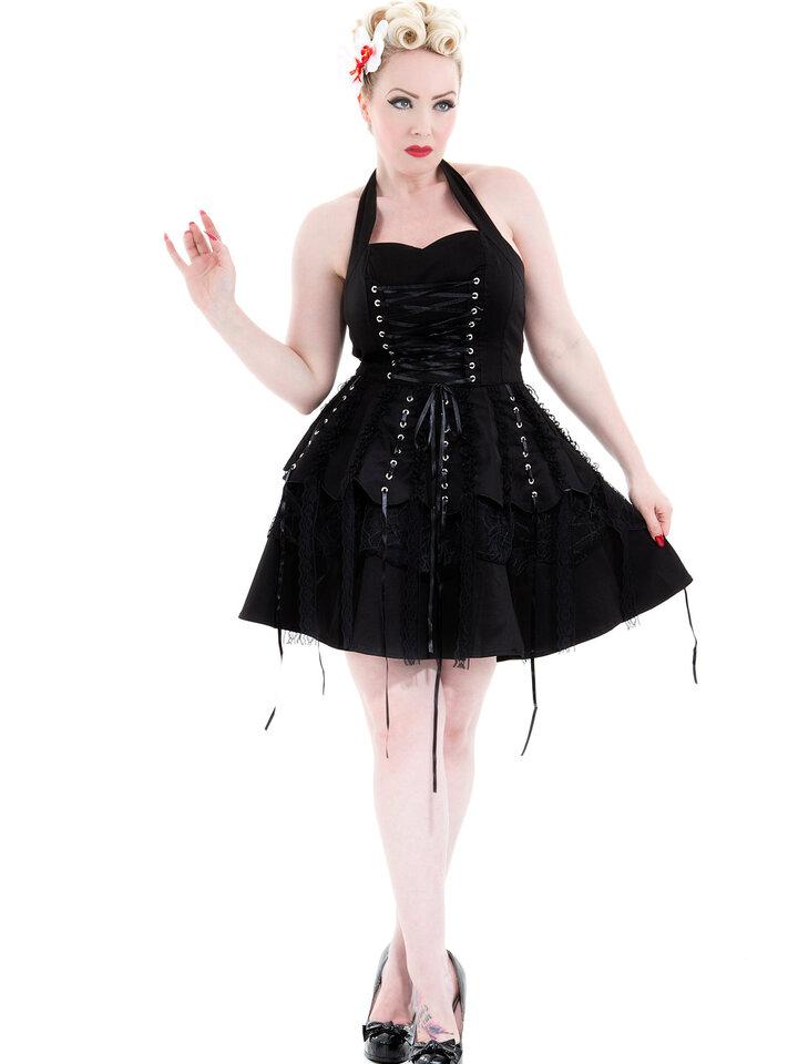 Obrázok produktu Čierne gotické krátke retro šaty