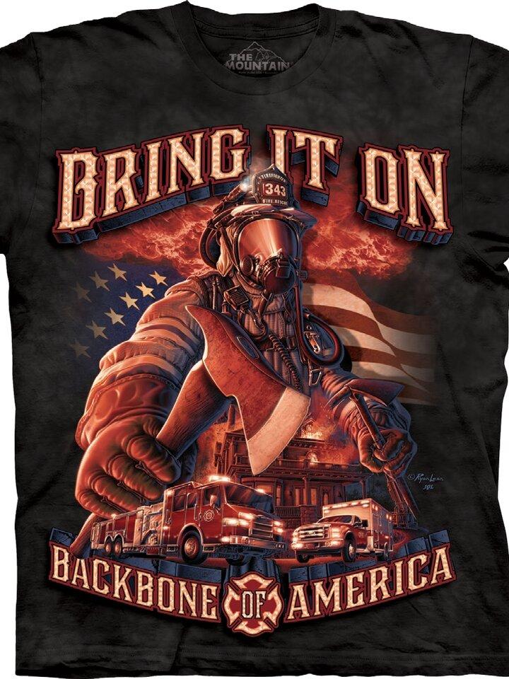 Sale T-shirt American Firefighter