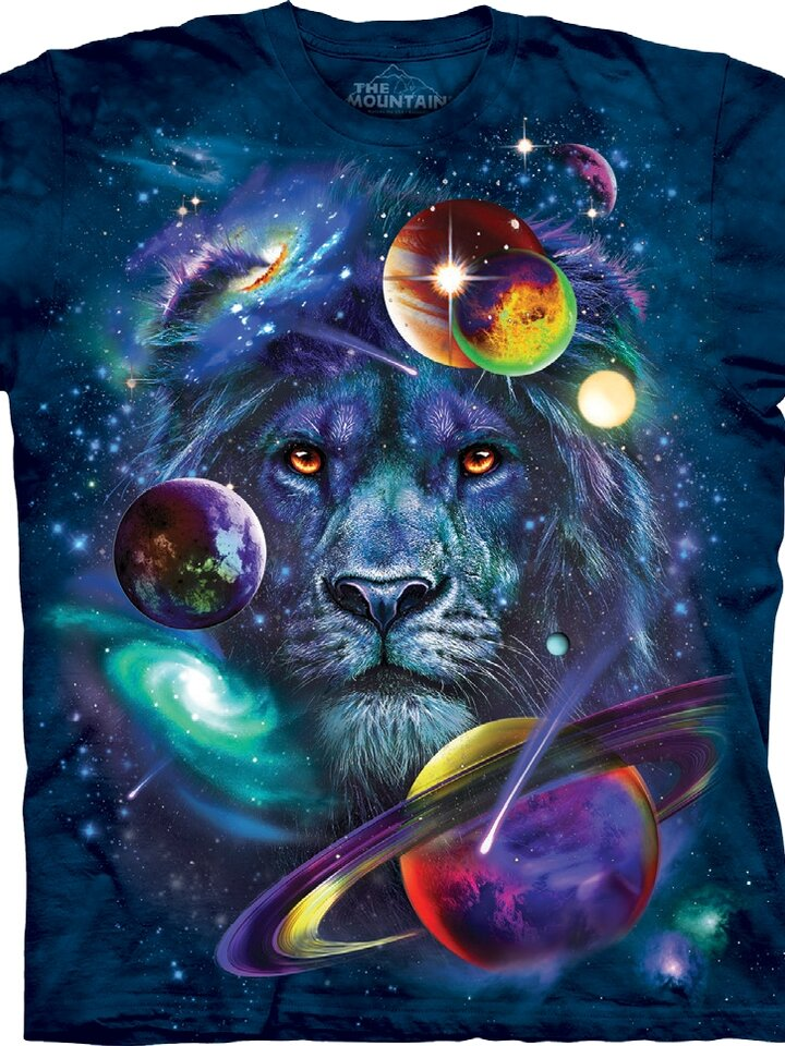 Gift idea T-shirt Lion in Universe