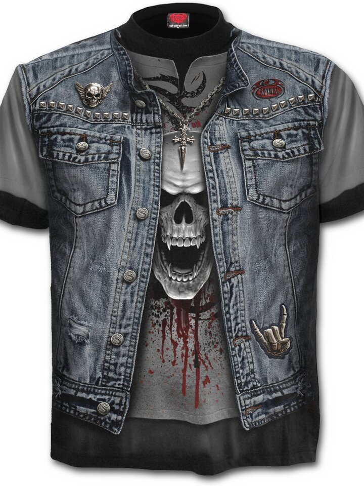 Lifestyle foto T-shirt Denim Vest