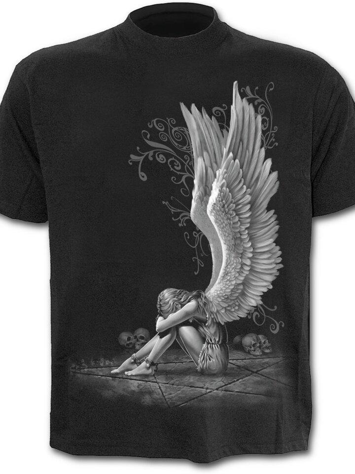 Obrázok produktu Čierne tričko Krídla anjela
