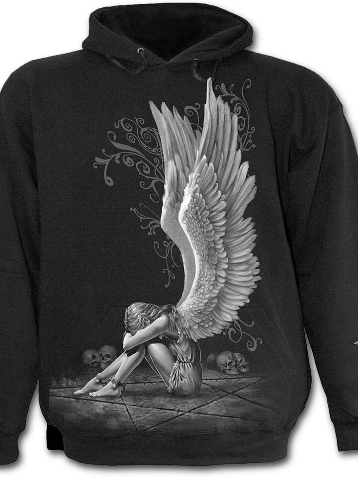 Foto Sweatshirt mit Kapuze Flügel des Engels