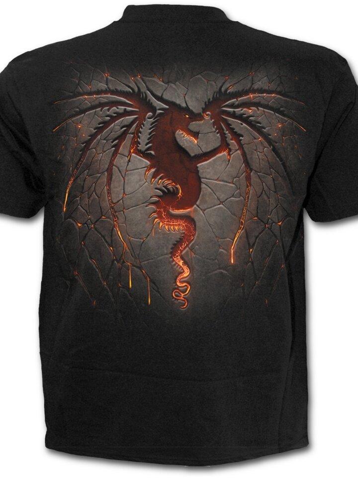 Geschenktipp T-Shirt Plus Size Kurzarm Drache Wächter