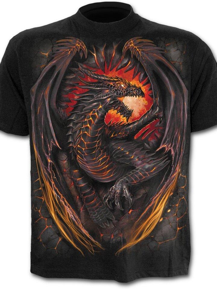 für ein vollkommenes und originelles Outfit T-Shirt Plus Size Kurzarm Drache Wächter