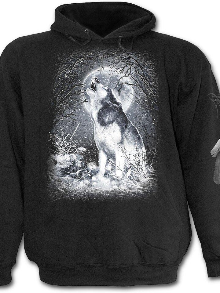 Sleva Mikina s kapucí Bílý vlk