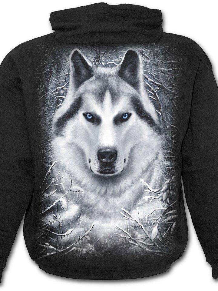 Hledáte originální a neobvyklý dárek? Obdarovaného zaručeně překvapí Mikina s kapucí Bílý vlk