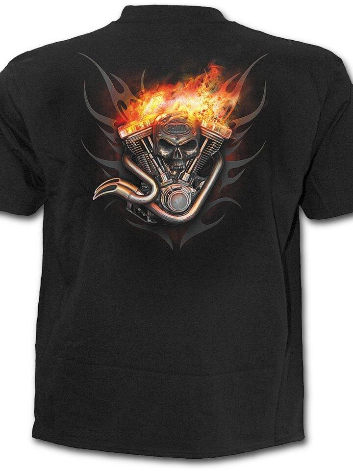 pro dokonalý a originální outfit Tričko Kolo v ohni