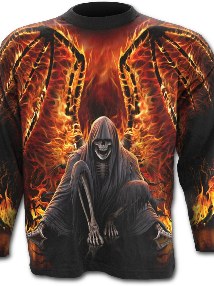 Looking for an original and unusual gift? The gifted person will surely surprise with Long Sleeve Fiery Wings