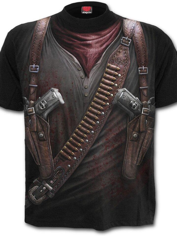 Geschenktipp T-Shirt Waffen im Futteral