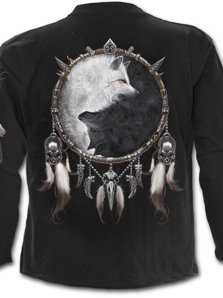 Sleva Dlouhý rukáv Tvář vlka