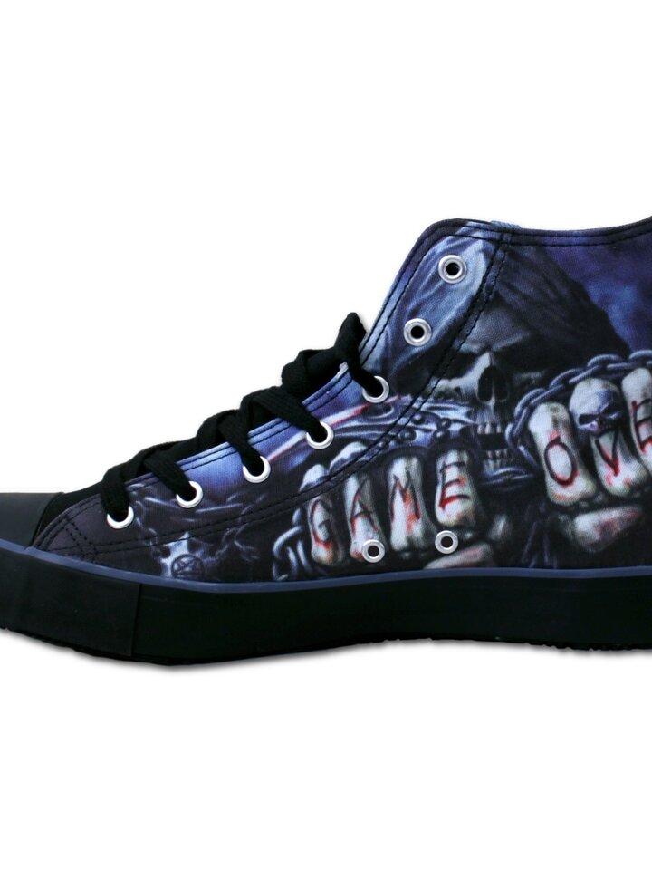 Pre dokonalý a originálny outfit Men's Black Sneakers Game Over