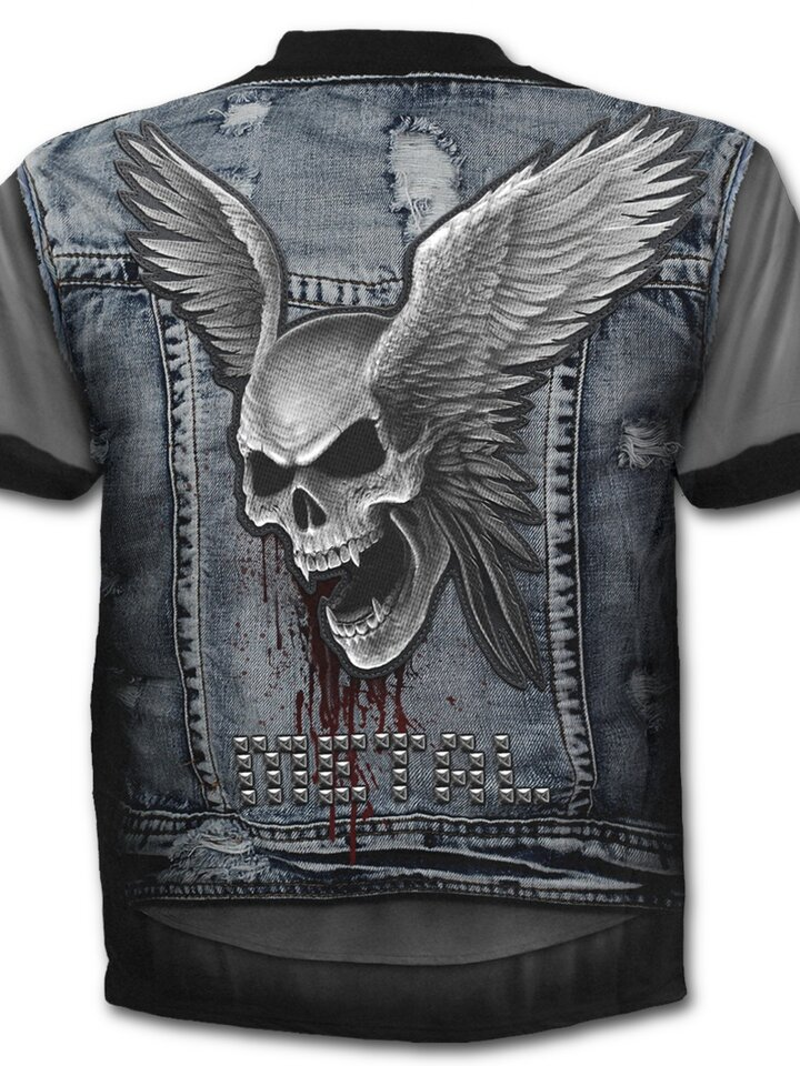 Looking for an original and unusual gift? The gifted person will surely surprise with Plus Size T-shirt Denim Vest