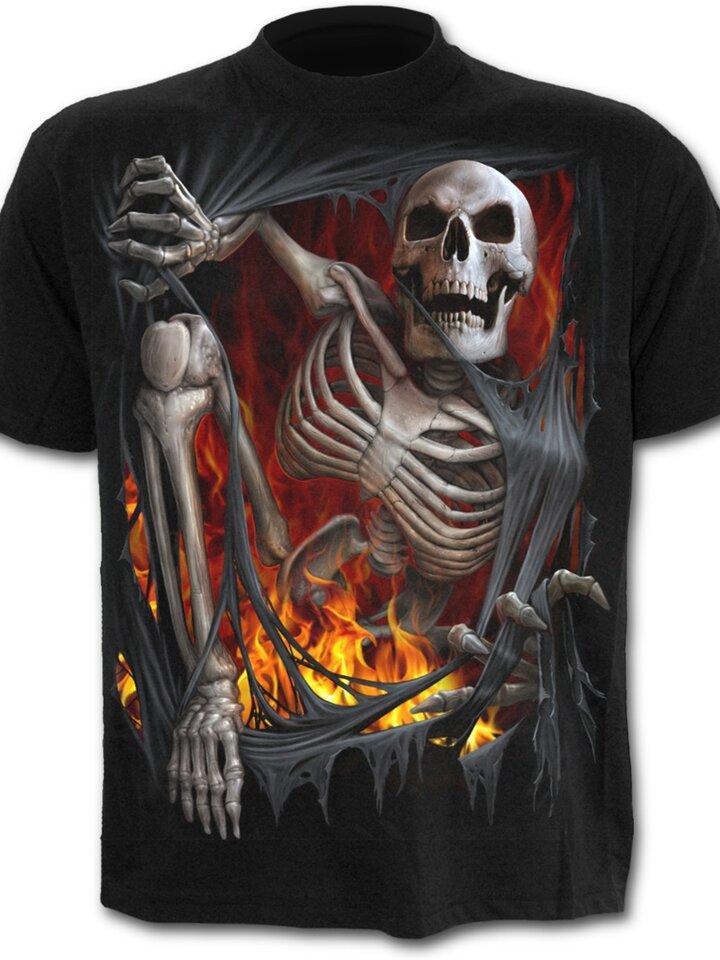 Pre dokonalý a originálny outfit Tričko Smrť v ohni