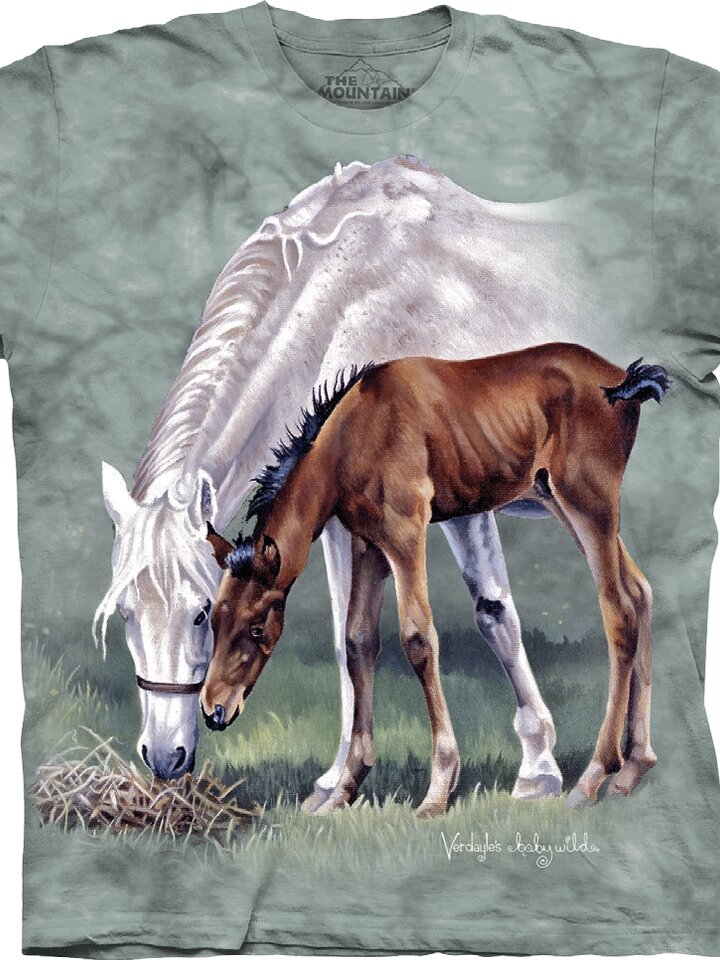 Looking for an original and unusual gift? The gifted person will surely surprise with T-shirt Grazing of Horses Child