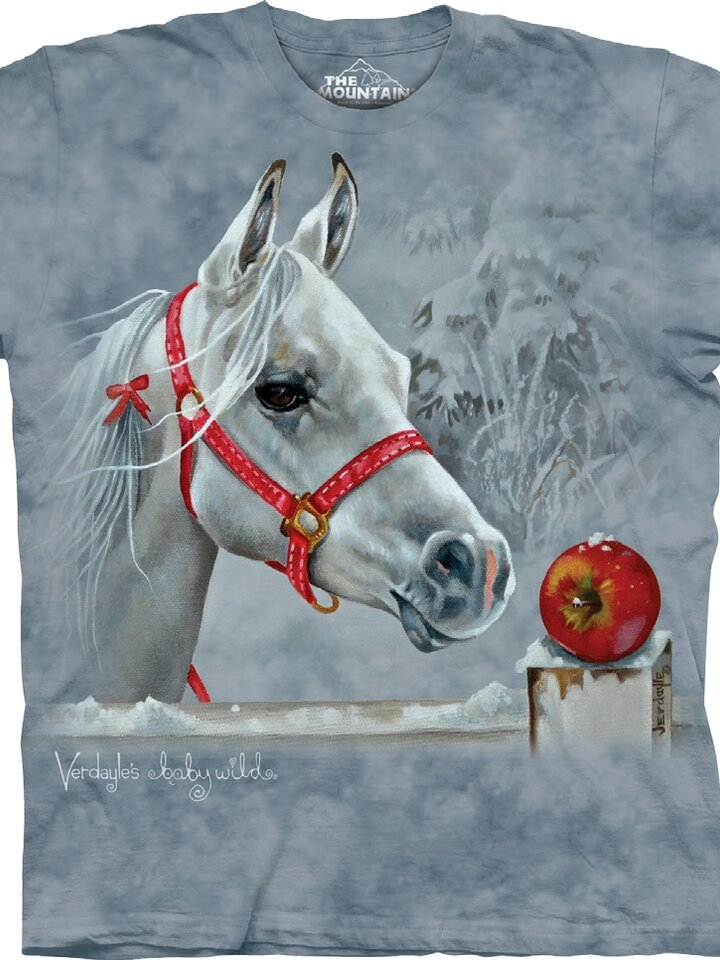 Looking for an original and unusual gift? The gifted person will surely surprise with T-shirt Horse and Apple Child