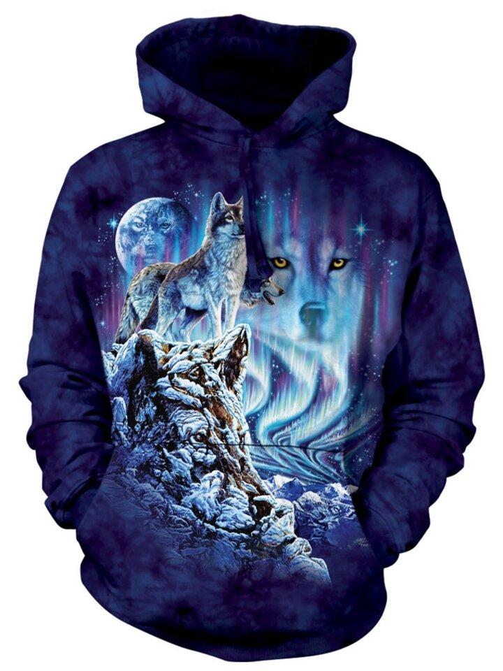 Výpredaj Mikina s kapucňou Vlk vládca