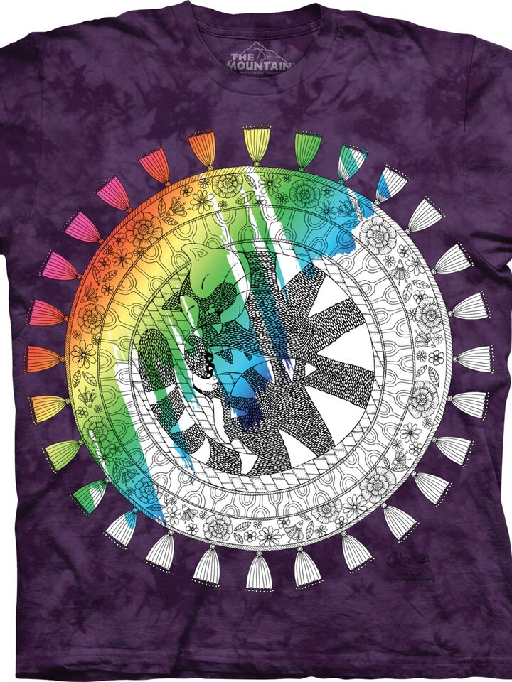 Original gift Mandala Colouring T-shirt Sleeping Cat