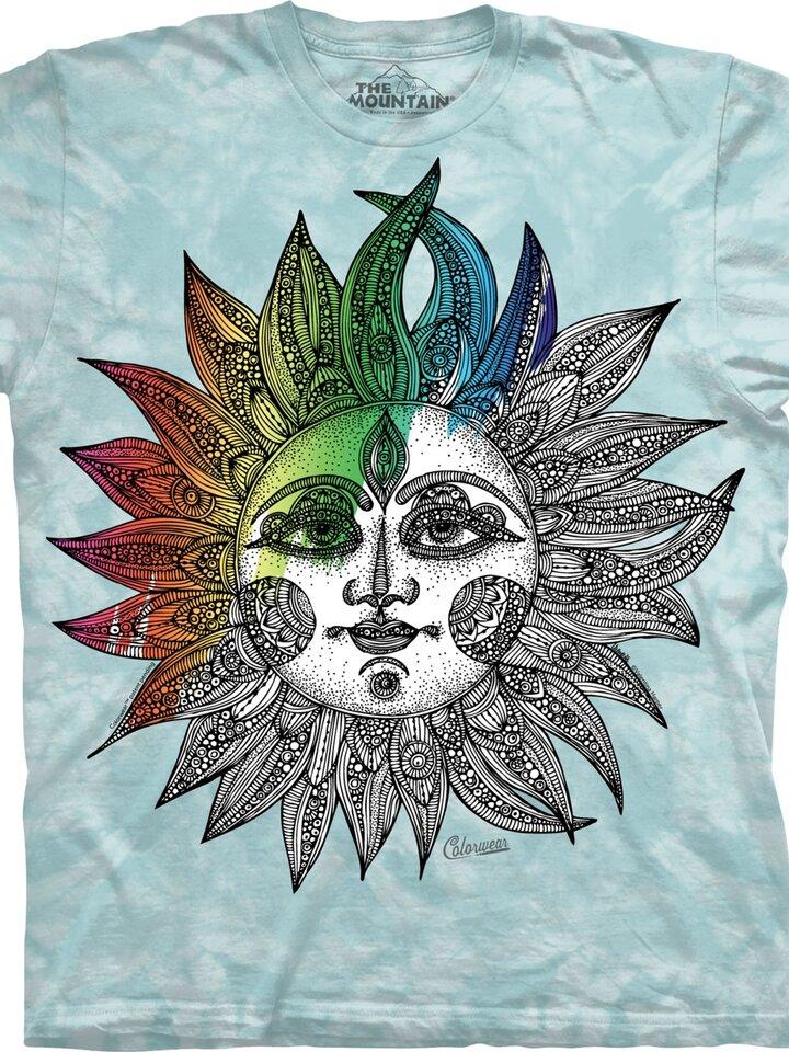 Výpredaj Mandala vyfarbovacie tričko Helios
