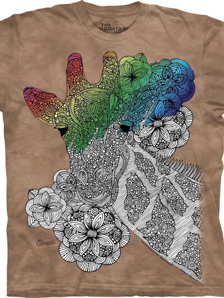 Lifestyle photo Mandala Colouring T-shirt Giraffe