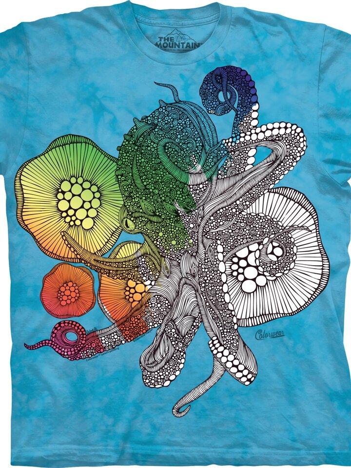 Potěšte se tímto kouskem Dedoles Mandala vybarvovací tričko Octopus
